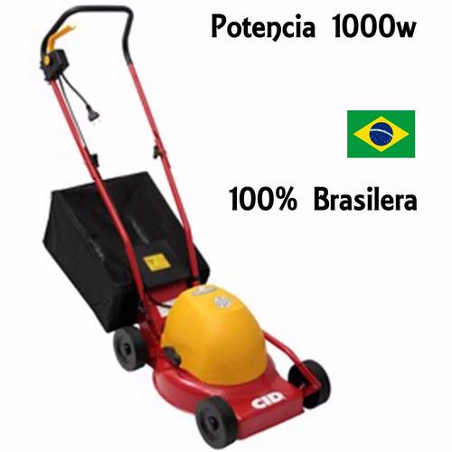 cortadora cesped eléctrica cid 1000w c/rec made brasil