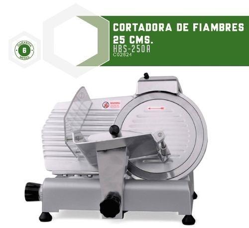 cortadoras de fiambres hoja 25 cms. hbs25a kuma - fama