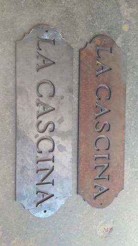 cortes cnc con plasma, platinas,carteles,letras,numeros,etc.