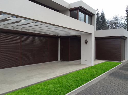 cortina de enrollar aluminio marrón importada españa