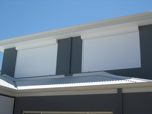 cortina de enrollar en pvc cajón exterior - 120 x 120