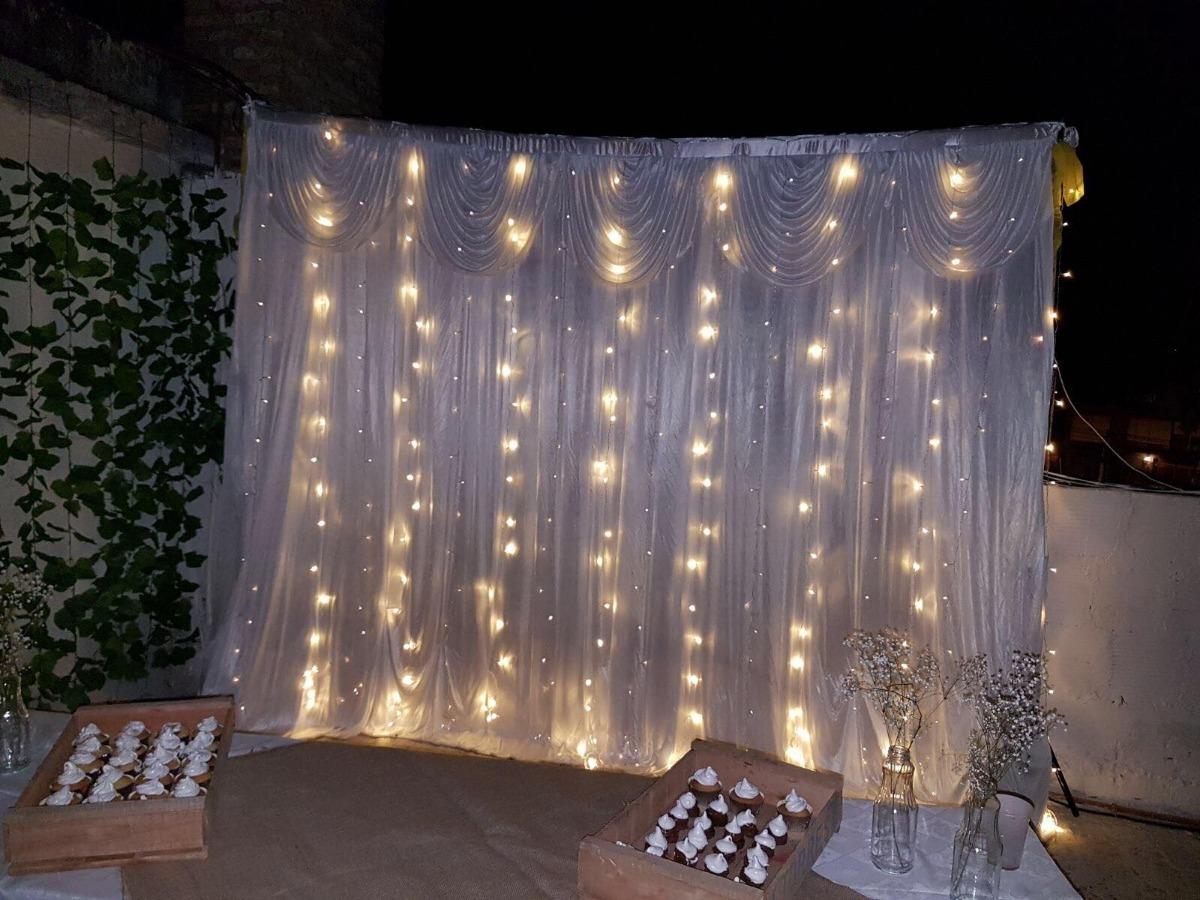 f1aada3f87b cortina de luces led 3x3 metros para atras de la torta fria. Cargando zoom.