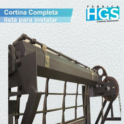 cortina metálica equipamiento comercial