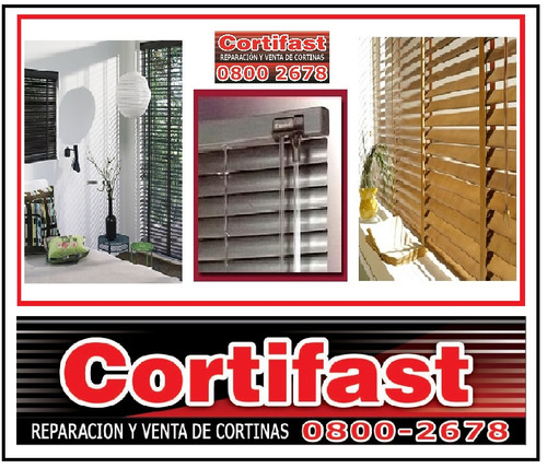 cortina veneciana pvc - aluminio - madera