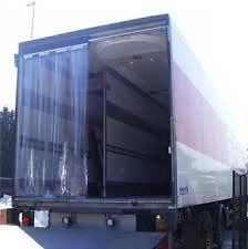 cortinas de bandas verticales de pvc transparente