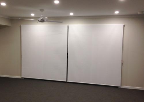 cortinas de enrollar rollers blackout blanco - 160 x 220