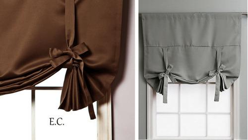 Cortinas en blackout textil de atar para ventanas peque as - Cortinas para ventanas pequenas ...