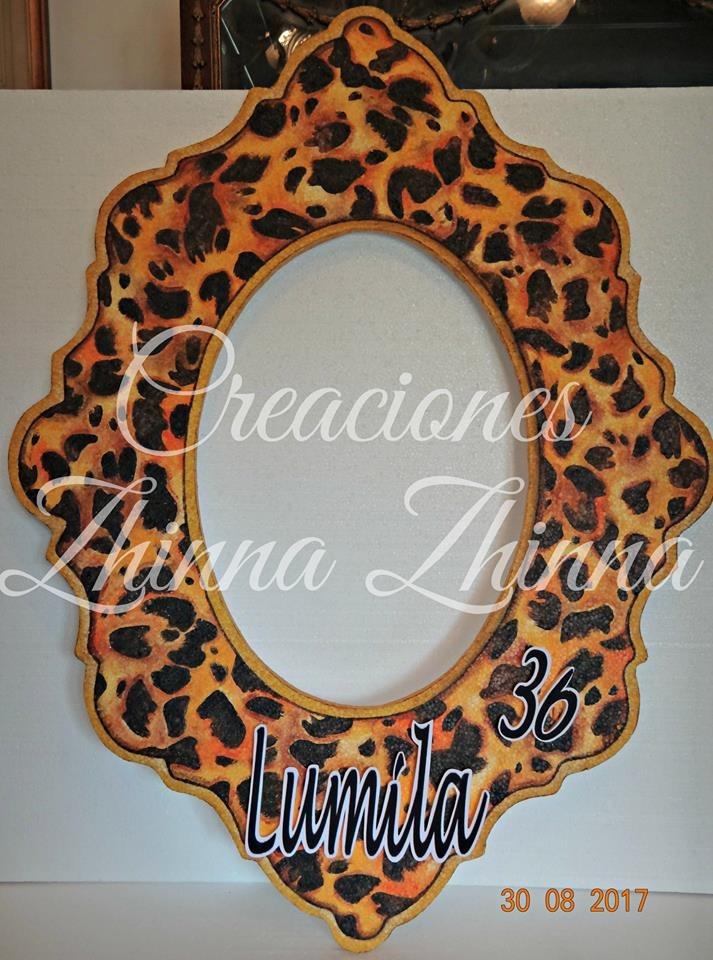 Cotillon Marco Selfis Tematicos Animal Print Forma Espejo 950 00