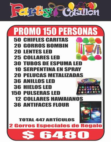 cotillón promo 50/75/100/150 personas
