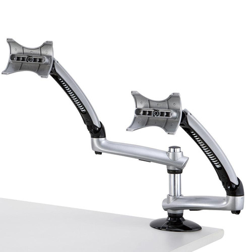 cotytech dual apple desk mount spring arm grommet base