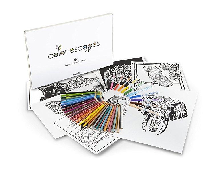Crayola Color Escapes Para Colorear Y Lápiz Kit, Naturaleza ...