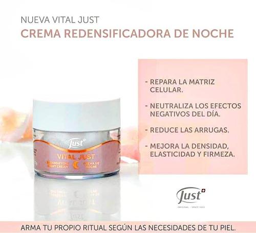 crema anti-arrugas redensificante de noche vital just