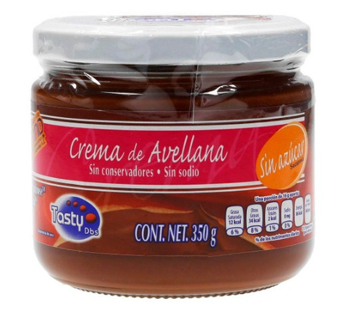 crema avellana chocolate sin azúcar nutella dieta