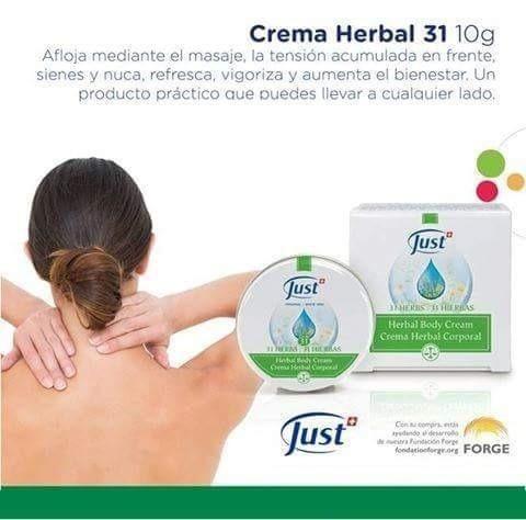 crema herbal oleo 31 just