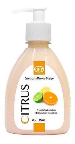 crema para manos y cuerpo gnp citrus 290ml con valvula