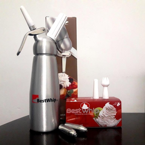 cremera sifón dispensador de crema aluminio 0.5lt. bestwhip