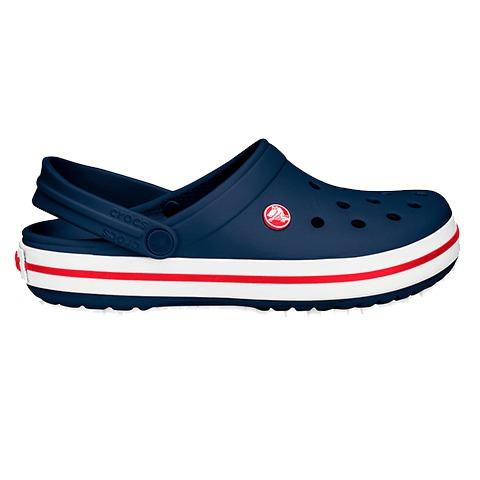 crocs crocband clog originales ladies navy red - toto