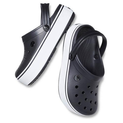crocs crocband platform black white - crocs uruguay