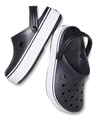 crocs crocband platform clog negra - crocs uruguay