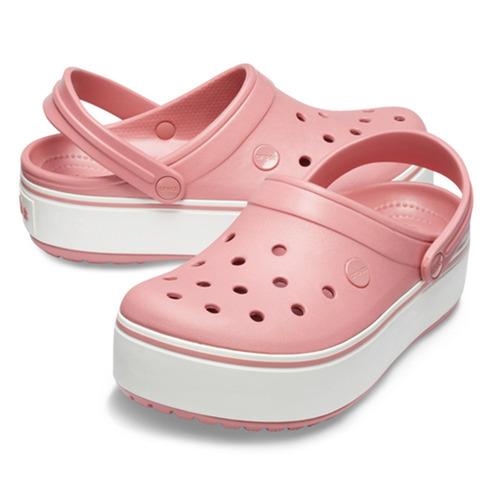crocs crocband platform  rosadas - crocs uruguay