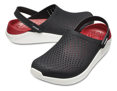 crocs literide black/white - crocs uruguay