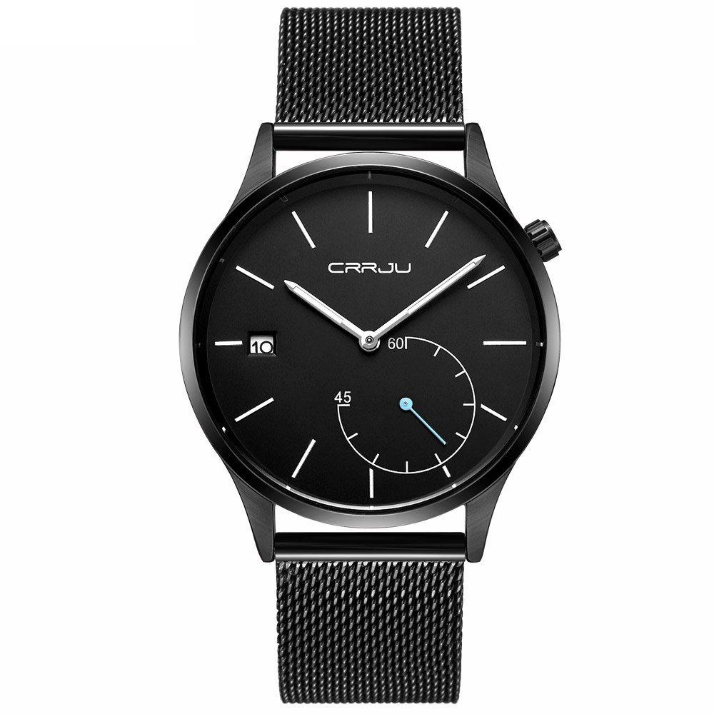 513c177ab02e crrju nuevos relojes de cuarzo para hombre de acero inoxi. Cargando zoom.