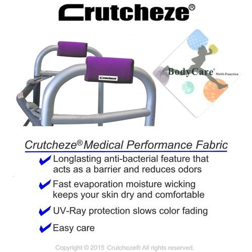 crutcheze deep purple walker padded hand grip covers hech