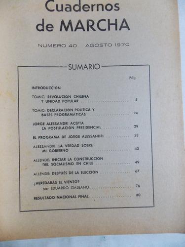 cuaderno de marcha nº 40