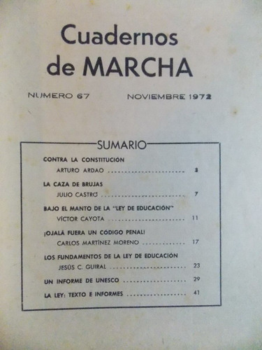 cuaderno de marcha nº 67