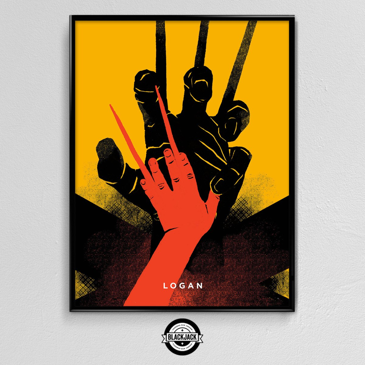 Cuadro 30x40 Marco Slim Logan X Men Cine Peliculas Regalo - $ 450,00 ...