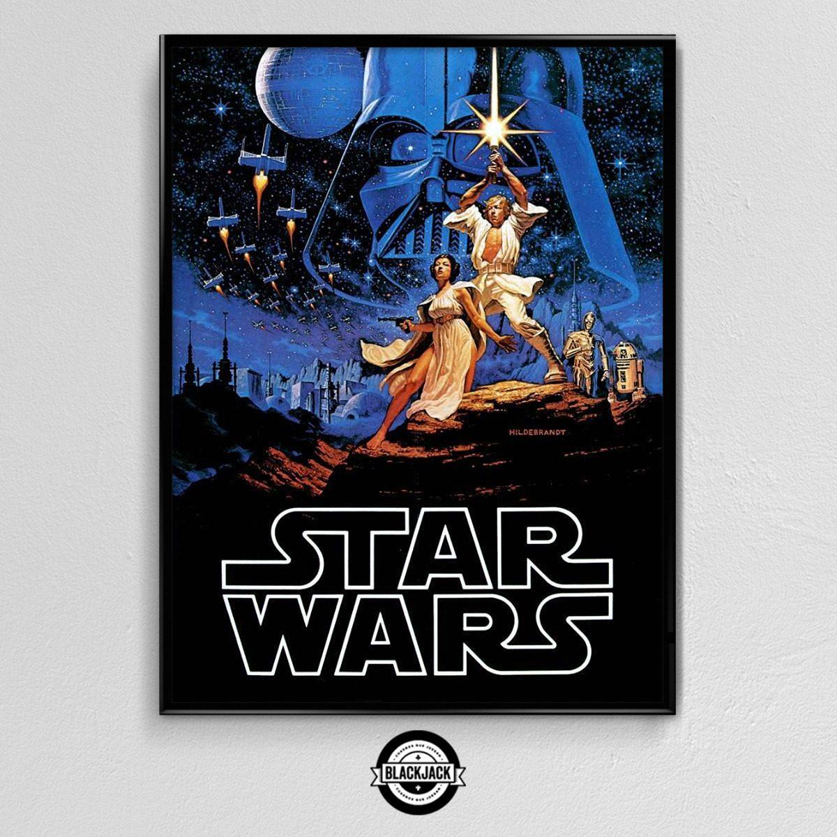 Cuadro 30x40 Marco Slim Star Wars Pelicula Deco Cine 14 - $ 450,00 ...