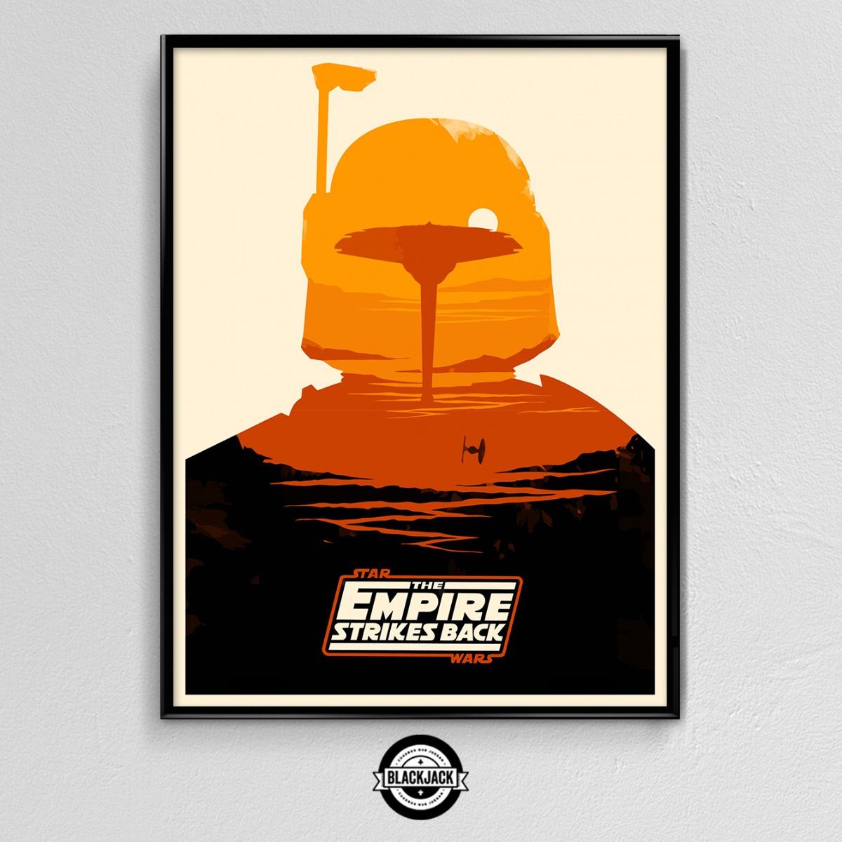 Cuadro 30x40 Marco Slim Star Wars Pelicula Deco Cine Retro - $ 450 ...