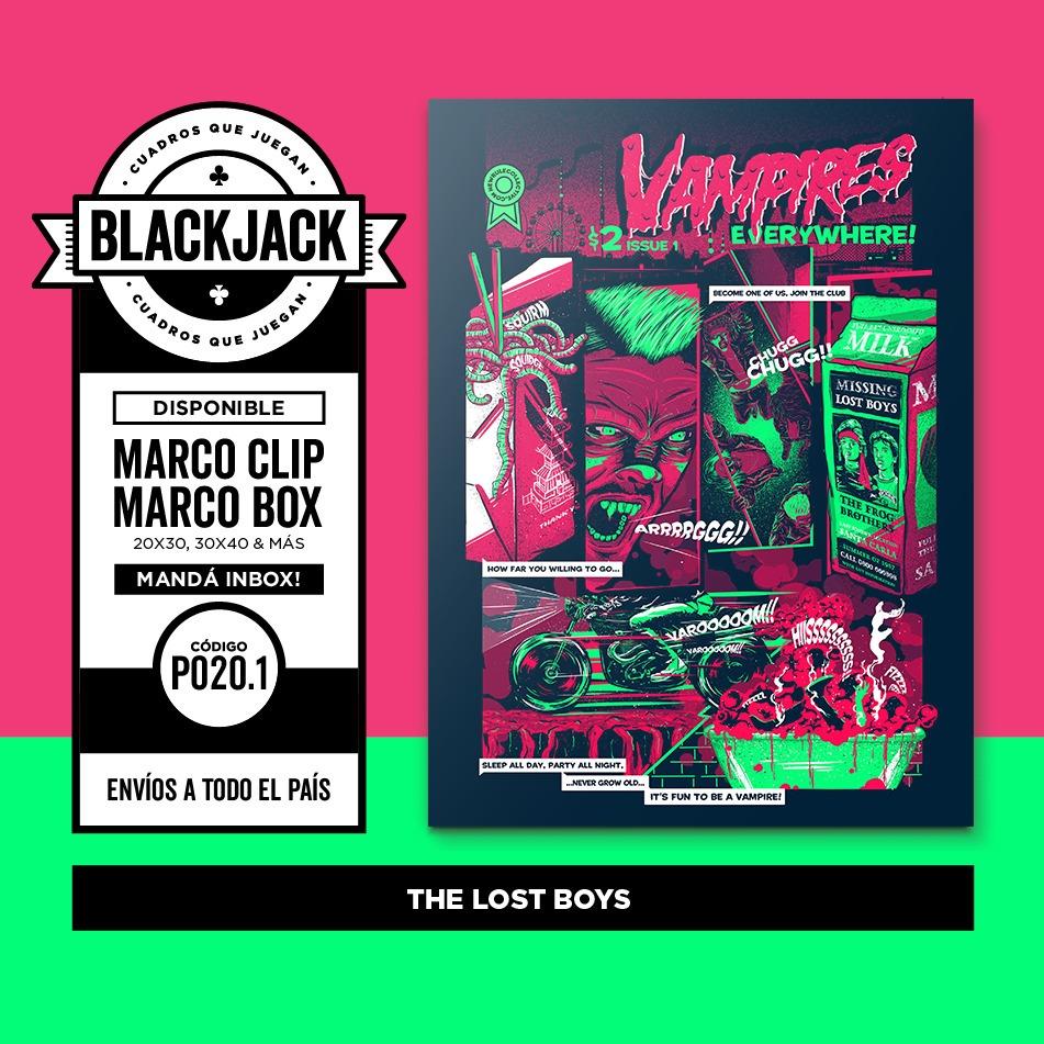 Cuadro 30x40 Marco Slim The Lost Boys Cine Retro Regalo - $ 450,00 ...