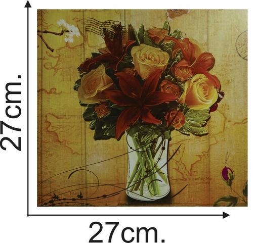 cuadro madera 10 diseños varios 27x27 - el regalón