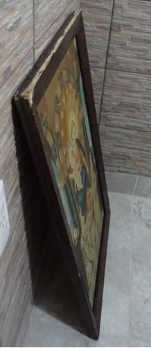 cuadro tela  serigrafia cristo