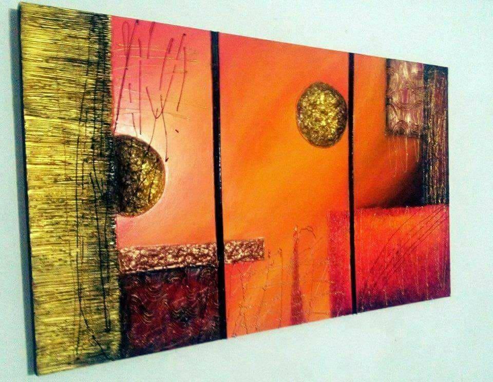 Cuadros abstractos decorativos modernos en mercado libre - Cuadros verticales modernos ...