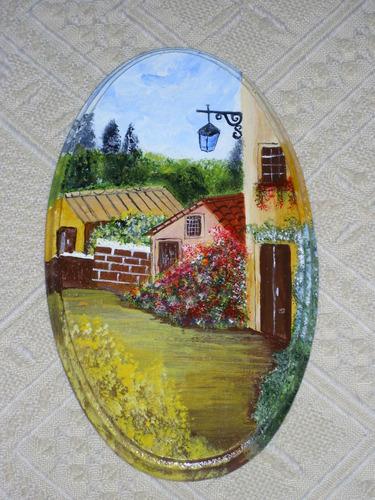 cuadros miniaturas acrílico sobre madera