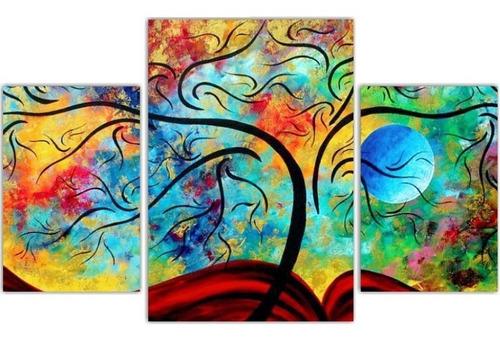cuadros murales tripticos, buda, étnicos, 95 x 45