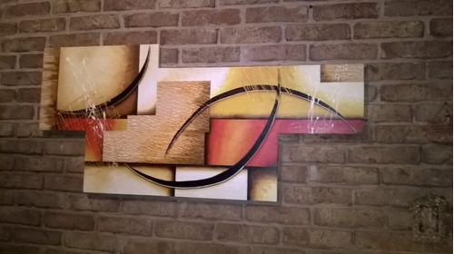 cuadros pinturas a mano tripticos  modernos 18 pagos