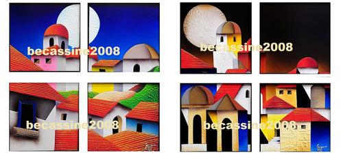 cuadros: políptico - 4 cuadros en bastidores de 30 x 30 cm