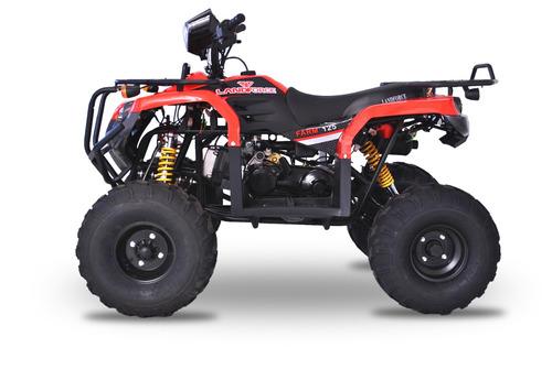 cuatriciclo 0km nuevo 125cc rojo más de 10 años importando