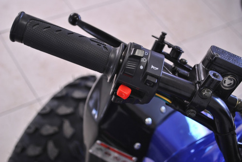cuatriciclo 125 + funda 0km nuevo deportivo azul landforce