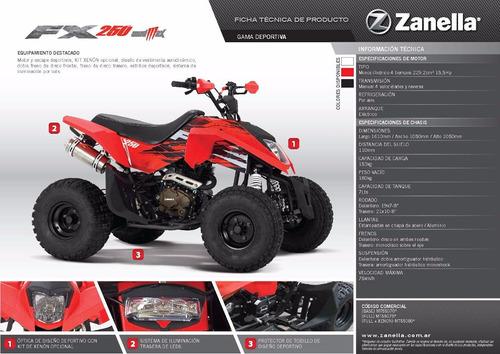 cuatriciclo 250 cc mad max zanella 0km 2018