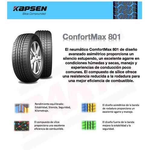 cubierta 185/55/15 kapsen s801 colocada neumático