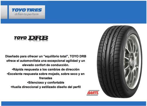 cubierta 185/55/15 toyo drb colocada y balanceada neumático