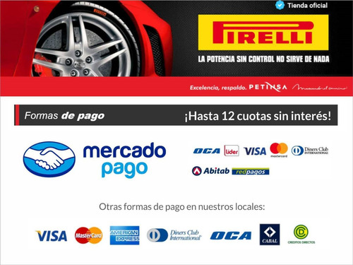 cubierta pirelli 195/55 hr 15 p7 cinturato
