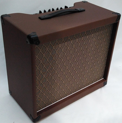 cubo guitarra 60w rms 12 pol. marrom clean/reverb jaovox