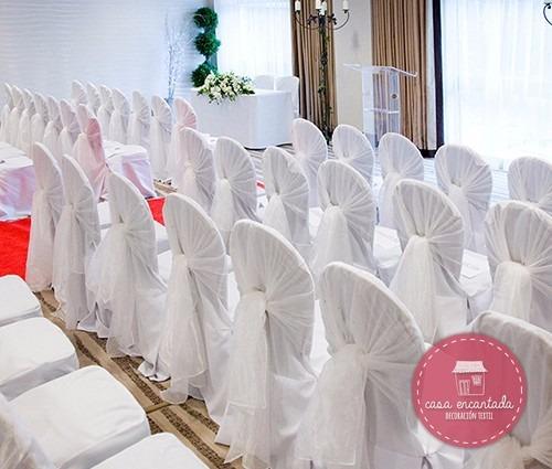 cubre sillas para eventos - casa encantada