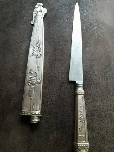 cuchillo criollo con vaina 31 cent.