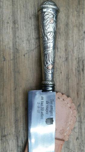 cuchillo criollo / grabado laser en metal